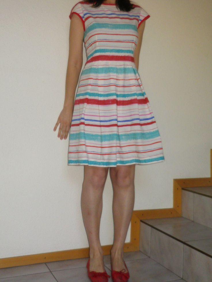 Stripey patriotic dress