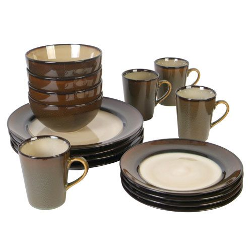 Rave 16-Piece Dinnerware Set Stripe - Walmart.com  sc 1 st  Pinterest & 15 best Dinnerware images on Pinterest | Dish sets Dinnerware sets ...