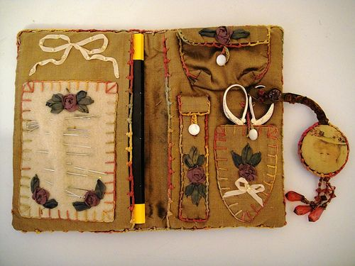 Book Cover Sewing Kits : Hussif mini needle case inside by knitnride via flickr