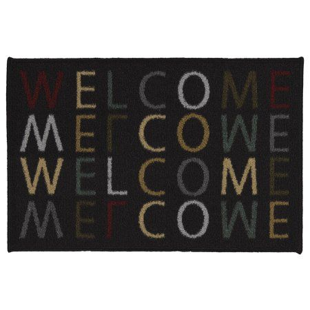Ottomanson USA Rugs Door mat Collection Rectangular Welcome Home Doormat (Machine-Washable/Non-Slip), Beige, 20 inch x 30 inch, Multicolor