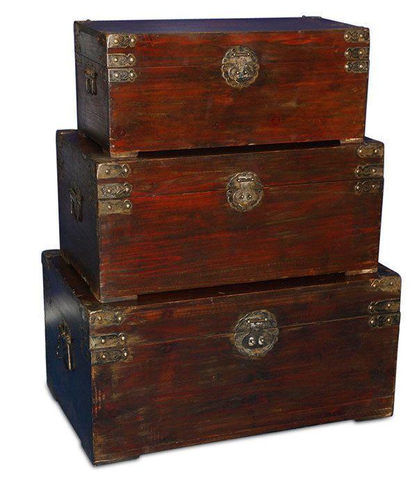Sehr massiv Schatztruhe Holztruhe Truhe Schatzkiste Handarbeit Tisch antik NEU  | eBay