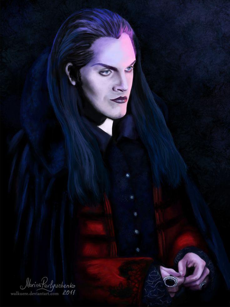 "Ivan Ozhogin as Graf von Krolock from the russian version of musical ""Tanz der Vampire"" Digital painting, Adobe Photoshop CS4"