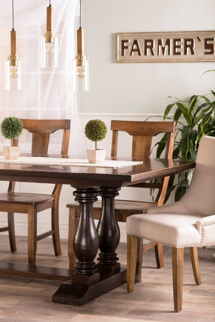 Design james design hardwood wingback chair dining room chair - Learn More About The Heritage Trestle Table From James James