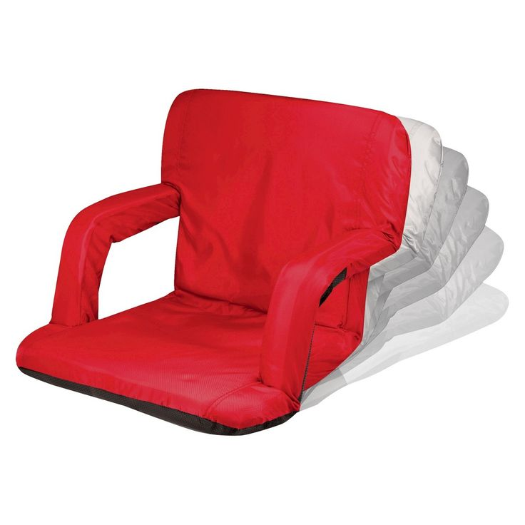 Picnic Time Ventura Portable Stadium Seats - Red (10.0 Lb)