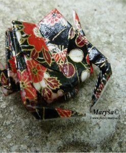 Black crab, origami brooche.