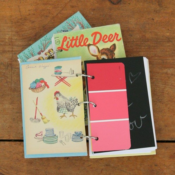 Diy 3 Ring Notebook Using Vintage Book For Cover Get