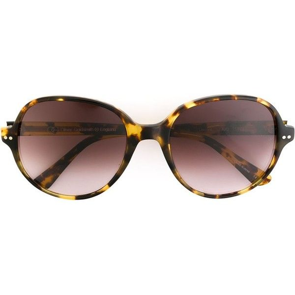 Oliver Goldsmith 'Aki' sunglasses ($430) ❤ liked on Polyvore featuring accessories, eyewear, sunglasses, brown, leopard print glasses, acetate glasses, oliver goldsmith sunglasses, leopard sunglasses e leopard print sunglasses
