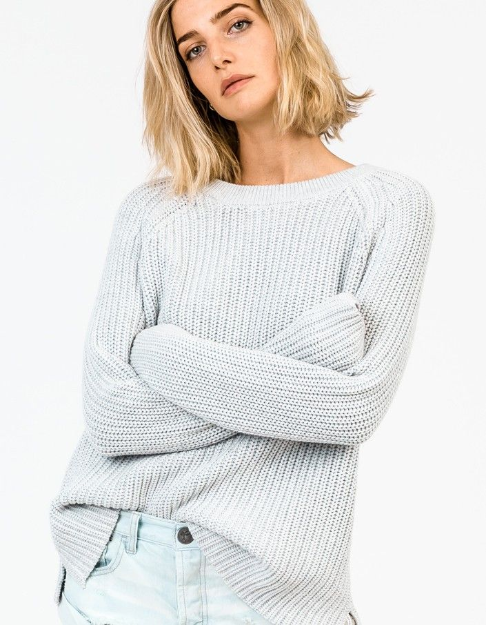 Oversize Chunky Knit - Snow Marle - Womens  - Superette | Your Fashion Destination.