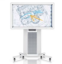 The whiteboard's 55-inch, full HD LCD display incorporates an LED backlight for outstanding brightness and long life. Its adapted Gorilla® glass is clear and durable. The D5500 perfectly displays the faintest of handwriting and the nuances of detailed drawings, and helps you convey the key messages of your presentations clearly and powerfully