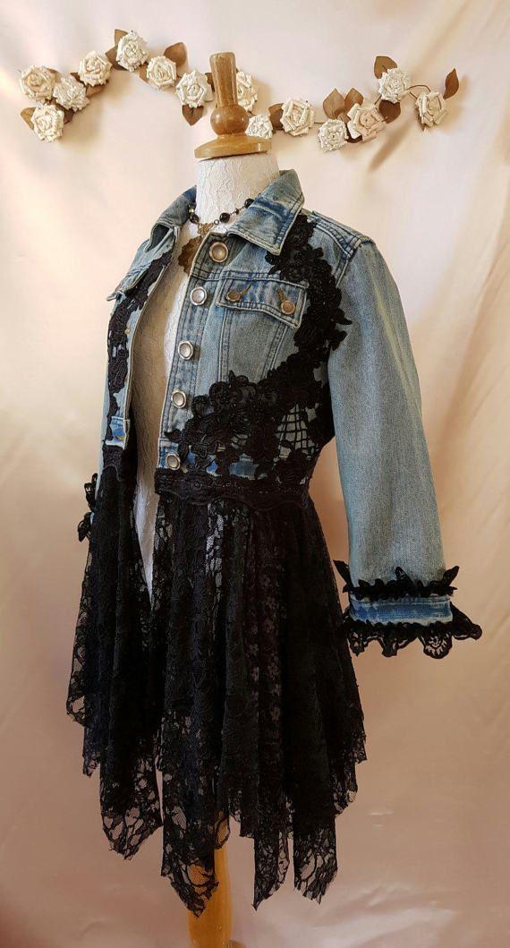 groß auswahl neueste abwechslungsreiche neueste Designs Recycling-Boho-Jacke Größe 8/10 Hippie Stevie Nicks Fee ...