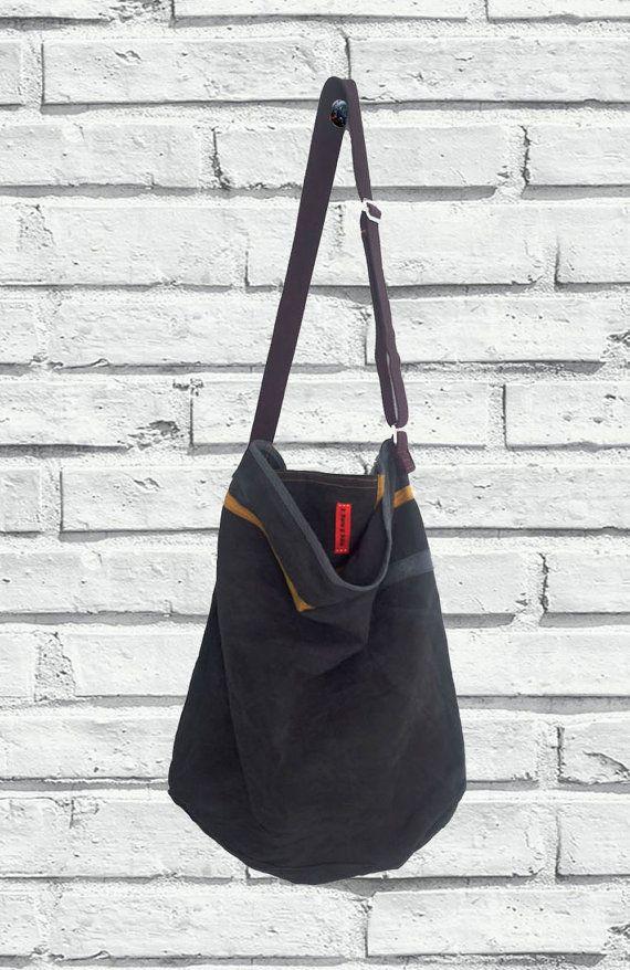 Tracolla  Sportiva Washed Canvas Bag Borsa da di ZenZerodesignes