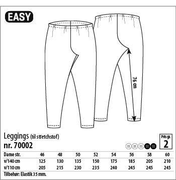 Leggings - 70002 - Stof & Stil