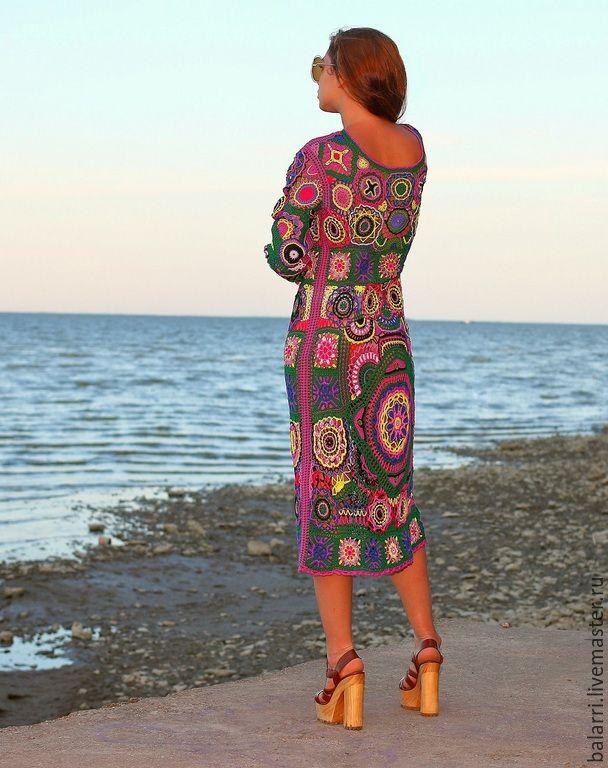 """Купить Платье-хиппи """"Богемия"""". - платье-хиппи, богемский стиль, 1970-е, богемский шик"""