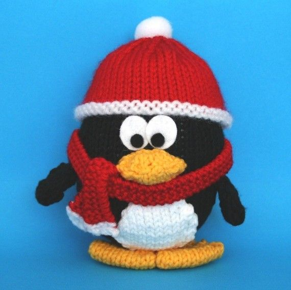 Wintery Christmas Penguin - INSTANT DOWNLOAD PDF Knitting Pattern Knitting ...