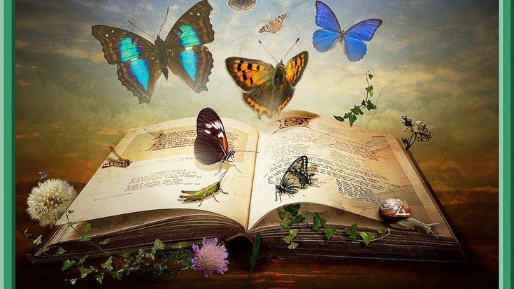 Fantasy garden book wallpaper 1366 x 768 free wallpapers