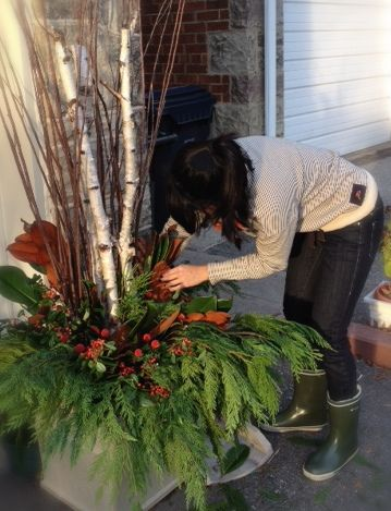 Decorating With Sticks And Twigs | DIY Holiday Planters « nest design studio { blog }