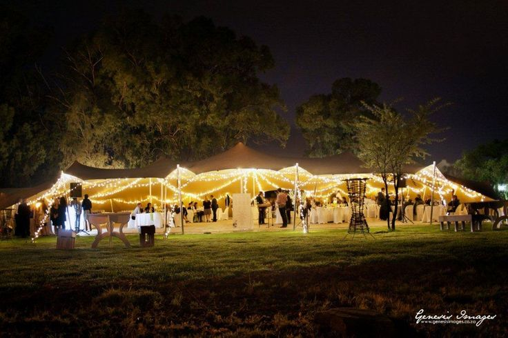 Garden Wedding Fairy Light perfection  www.bedouinevents.co.za