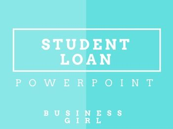 Student Loans PowerPoint Product Description: I use this PowerPoint Presentation with my Personal Finance course. This PowerPoint covers various student aid options. The material in the PPT comes from the website: http://studentaid.ed.gov/types  Topics covered include: FAFSA Federal Pell Grant Federal Studnet Loans: Subsidized, Unsubsidized, Plus Loans, Perkins Loans Private Student Loans Repayment Tips/Options Consolidation, Deferment, Forbearance 3 Scenarios for dealing with student loans