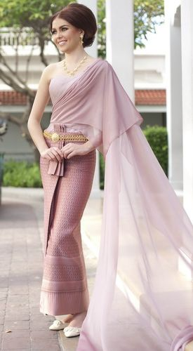 More mondern style Thai dress