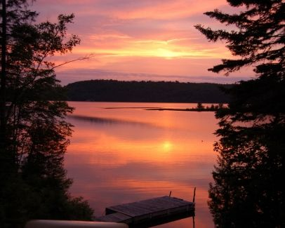 "Muskoka, Ontario, Canada ""Valency loved her blue castle and was completely satisfied with it. It faced the west and when sunsets flooded it, Valency's whole being knelt in prayer as if in some great cathedral."""