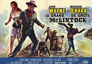 maureen ohara movie list | Magnet Vintage Movie Poster McLintock 1963 John Wayne Maureen OHara ...