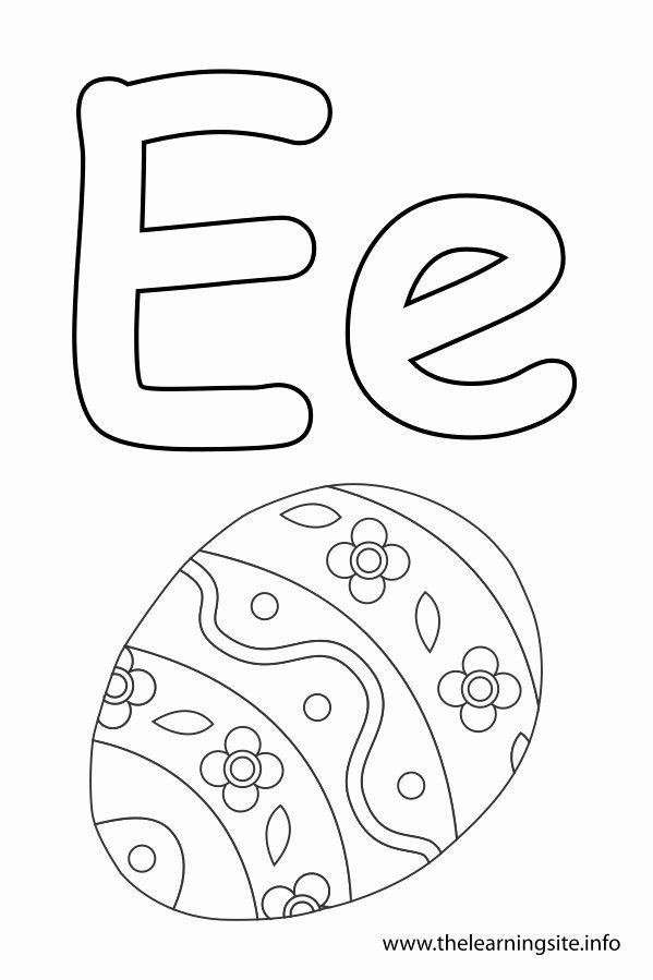 Letter E Coloring Images