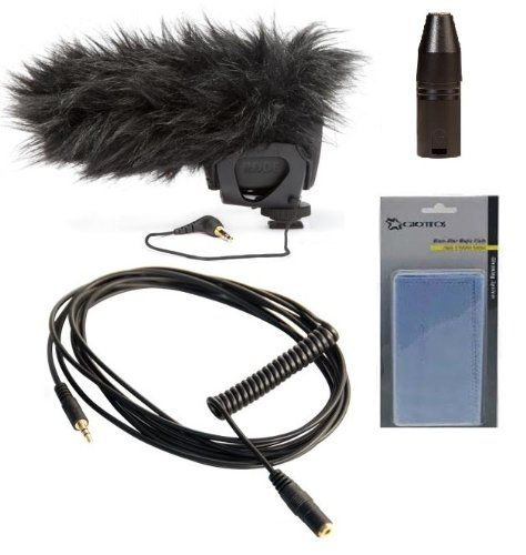 Rode VideoMic Pro Compact On-camera Microphone Videographer Audio Kit + Rode DeadCat VMP Artificial Fur Wind Shield + Rode VXLR Minijack to XLR Adaptor + Rode VC1 Minijack/3.5mm Stereo Extension Cable + & Much More! Willoughby's Est. 1898