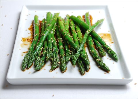 Marinated Sesame Asparagus - HealthNut Nation