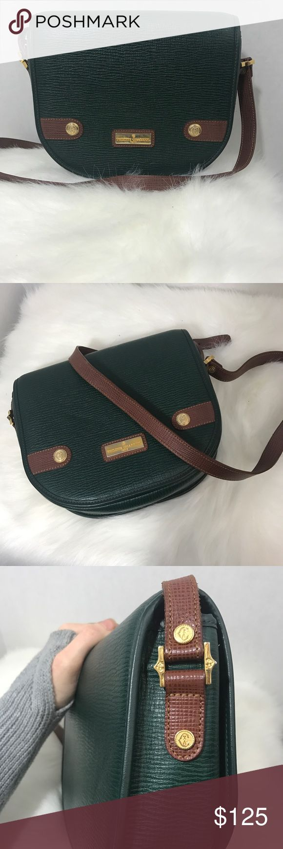 Vintage Philippe Charriol bag Leather cross body bag made in France. Is in great vintage condition. Slight tarnish on gold hardware and tear on inside liner. Leather is in perfect condition. philippe Charriol Bags Crossbody Bags
