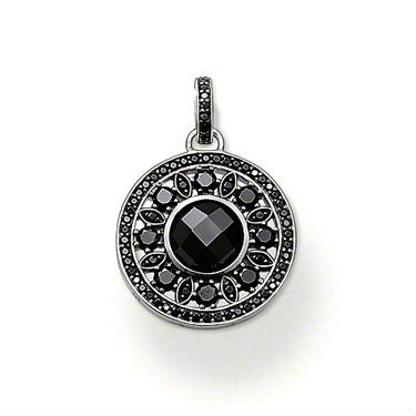 Wholesale jewelry / new black round pendant charm fit necklace / 925 silver pendant Free Shipping TS1223 $4.99