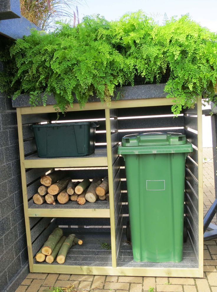 Growing Roof Bin Tidy for the front garden