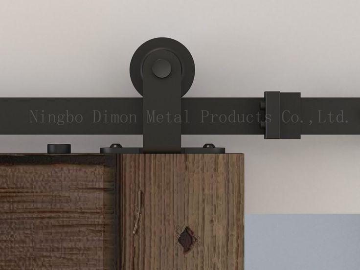 Dimon disesuaikan pintu geser hardware perangkat keras pintu geser menggantung roda kayu gaya Amerika pintu geser hardware DM-SDU 7202