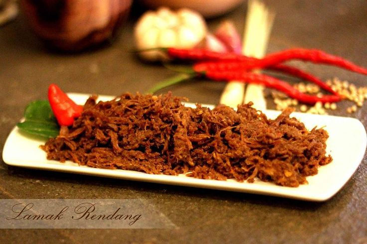 RENDANG SHREDDED BEEF FOR ORDER PLEASE TEXT 62 8111888528 www.rendanglamak.com