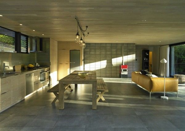 Wooden Modern Kitchen Interior From The Best House Design Ideas With Black Wall Exterior Color In