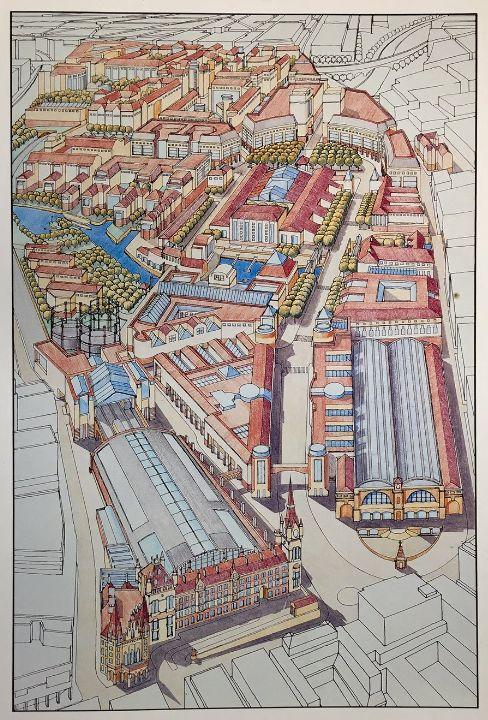 Kings Cross Masterplan 1987. Greycoat/British Rail.