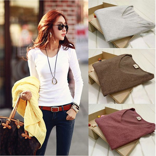 Cotton Knitwear Cozy T-shirt  Find More: http://www.imaddictedtoyou.com