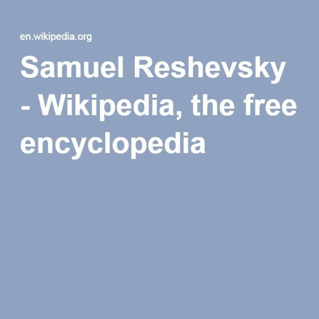Samuel Reshevsky - Wikipedia, the free encyclopedia