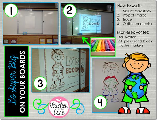 How to make big bulletin board displays! Great ideas to make your classroom look education and inviting!