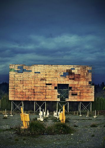 Drive-in theaters once dotted the land illuminating the night sky providing families, group of people, and lovers a relaxing escape from a day of school and work.     #giftkone.com