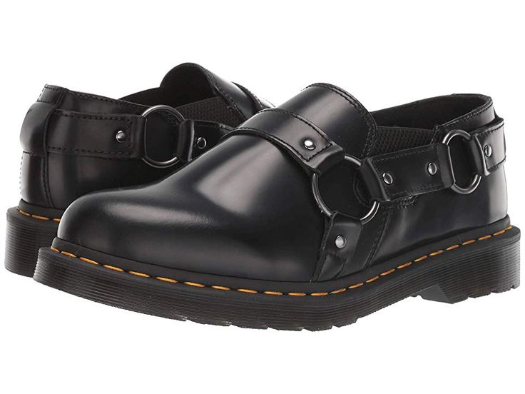 Dr. Martens Gilbey Shoes Black Polished Smooth