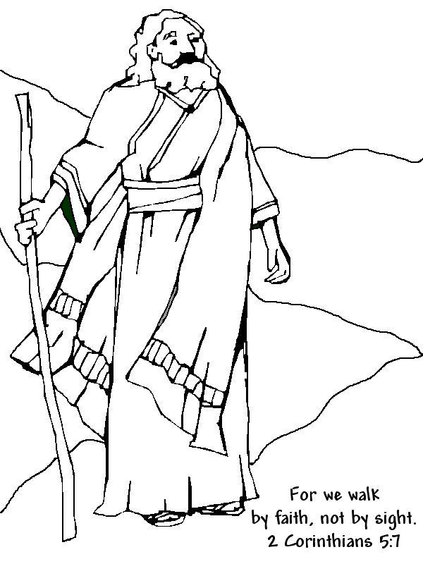 Abraham Coloring Page 2 Corinthians