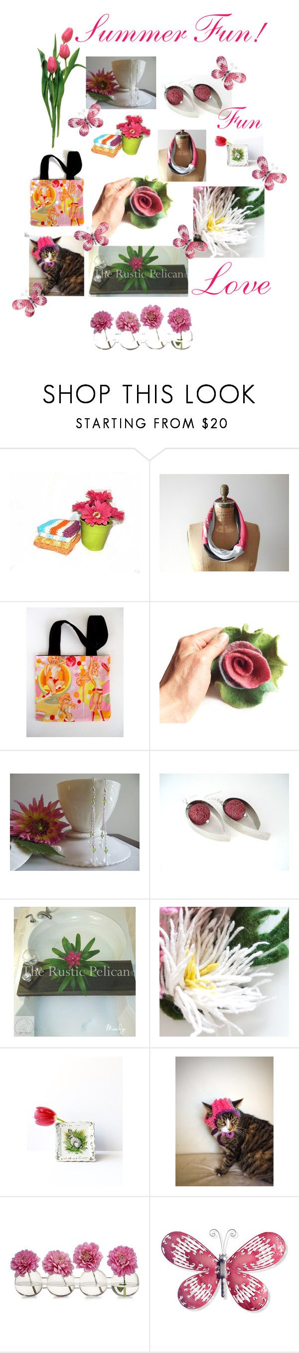 """""""Summer Fun!"""" by therusticpelican ❤ liked on Polyvore featuring National Tree Company, modern, contemporary, rustic and vintage"""