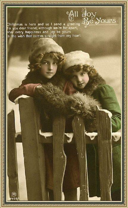 Винтажные открытки с детьми. Комментарии : LiveInternet - Российский Сервис Онлайн-Дневников