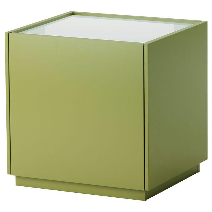 nyvoll nightstand green white ikea furniture pinterest. Black Bedroom Furniture Sets. Home Design Ideas