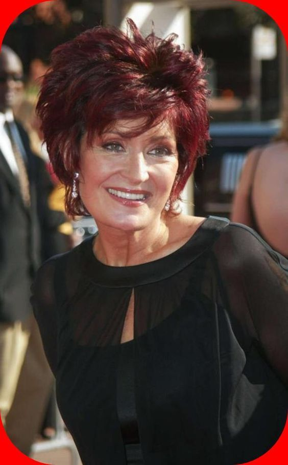 The Short Red Brown Sharon Osbourne Hairstyles : Popular Sharon Osbourne Hairstyles