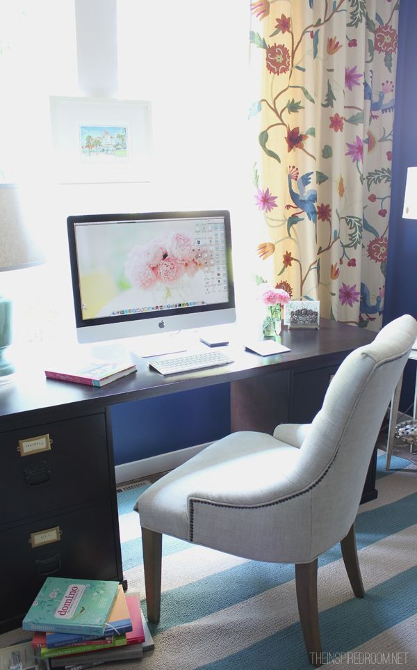 The Inspired Room Colorful Home Office Design