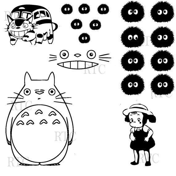 Totoro - 18 Assorted Vinyl Decals