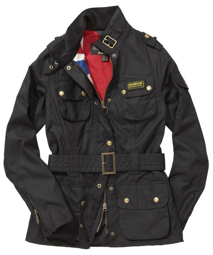 Barbour Ladies Union Jack International Jacket- Black --- £ 279.95