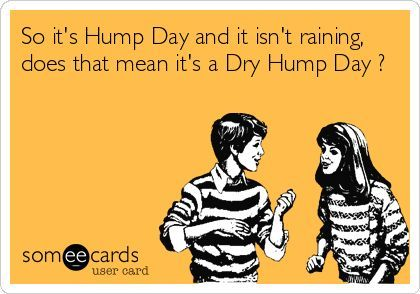 So its Hump Day and it isnt raining, does that mean its a Dry Hump Day ? | How Do It: