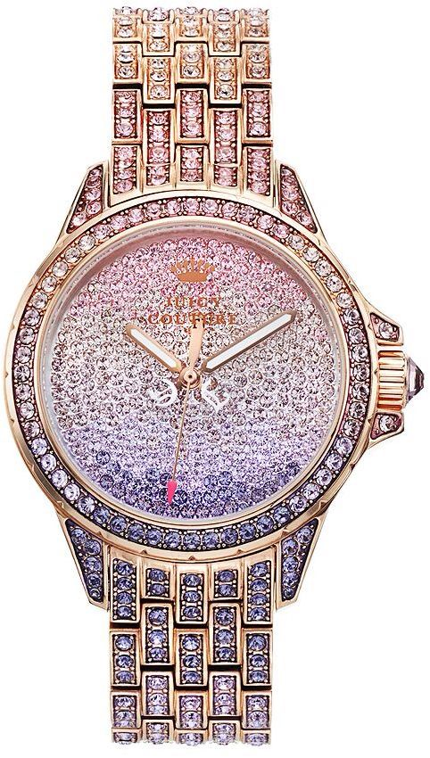 Juicy Couture Women's Stella Bling Crystal Stainless Steel Watch